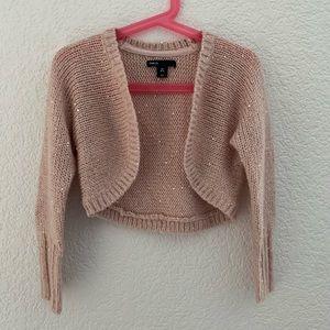 Gap girls sparkly sequin soft pink cardigan